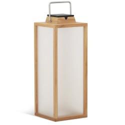Lampe solaire Tradition en teck H65