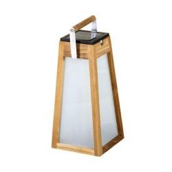 Lanterne solaire et rechargeable Tecka en teck