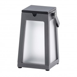 Lanterne solaire Tinka en aluminium - Gris Espace - Les Jardins